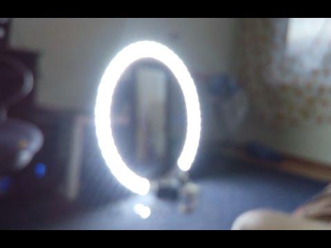 Кольцевой свет своими руками. Светодиодный прожектор. Как сделать кольцевое освещение для фото.