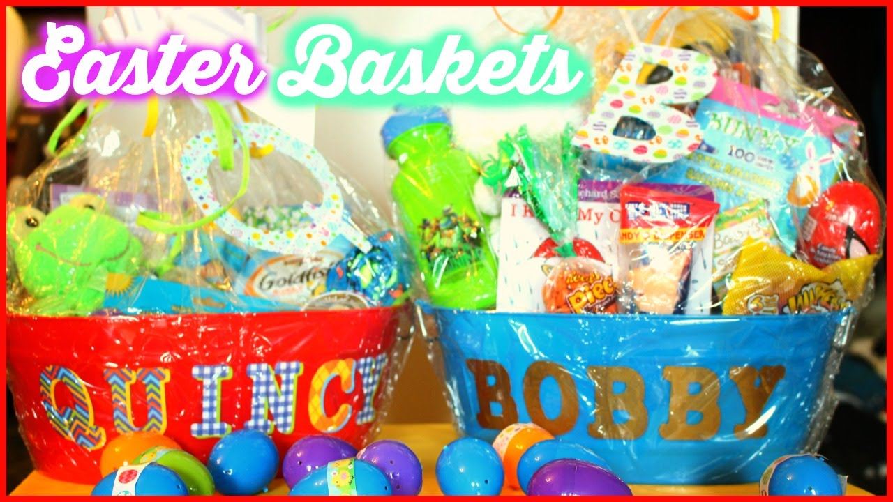 Gift ideas for 8 month old girl eskayalitim what39s in the boys easter baskets dollar tree basket saveenlarge easter basket negle Images