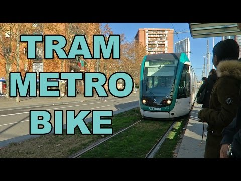 Barcelona Public Transportation: Tram, Metro, Bicycle... and