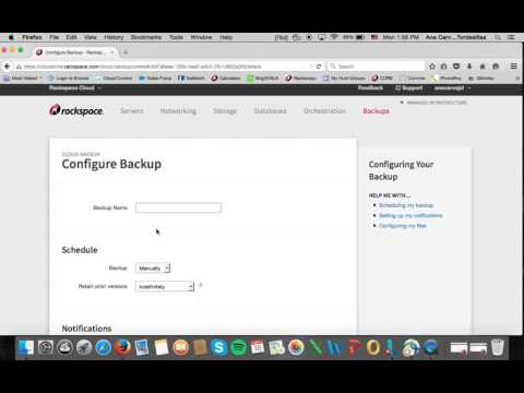 Rackspace Cloud Backup: Español
