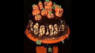 Making Ganache & Final Reveal: Jack-o-lantern Cake Part V