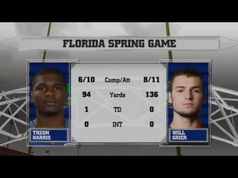 Will Grier vs Treon Harris in Florida Spring Game