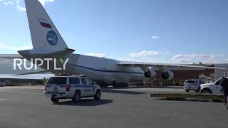 USA: Russian plane with humanitarian aid arrives in New York City