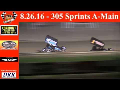 8.26.16 Attica Raceway Park 305 Sprints A-Main