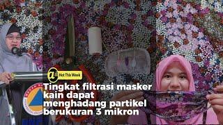 Tutorial membuat masker kain hijab dengan jahit tangan
