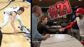 NBA 2k18 MyCAREER - Under Armour Meeting! Triple Ankle Breakers + Career High Assists! Ep. 21