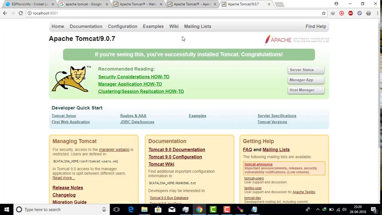 HOW TO DOWNLOAD AND INSTALL APACHE TOMCAT v9 0 IN WINDOWS 7/8 1/10 2018