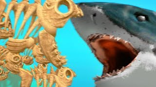 Skeleton Fish Family Vs Sharks - Feed And Grow Fish - Part 87 | Pungence