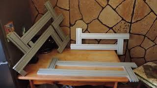 Обзор трёх шаблонов для фрезерования паза ступени и подступеника лестницы.