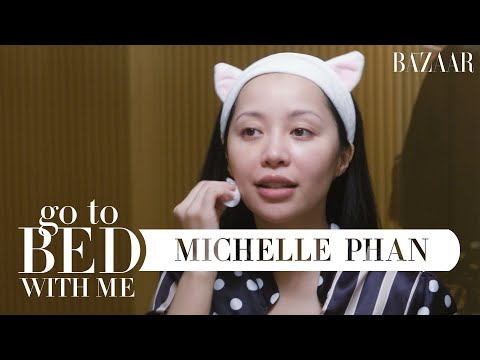 Michelle Phan's Nighttime Skincare Routine | Go To Bed With Me | Harper's BAZAAR