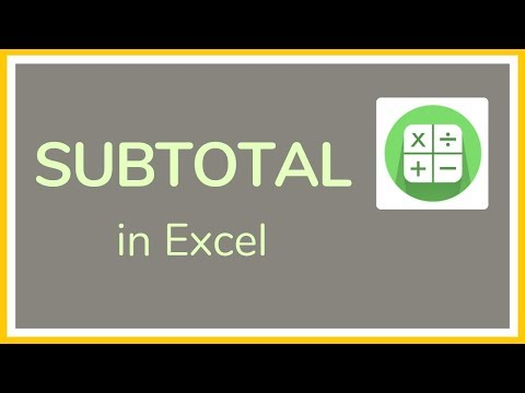 How To Use Subtotal In Excel - Tutorial