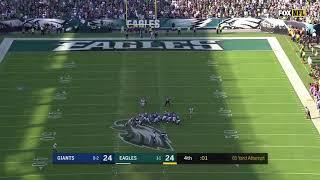 Jake Elliott 61-Yard Field Goal For the Win! | Philadelphia Eagles vs New York Giants 2017
