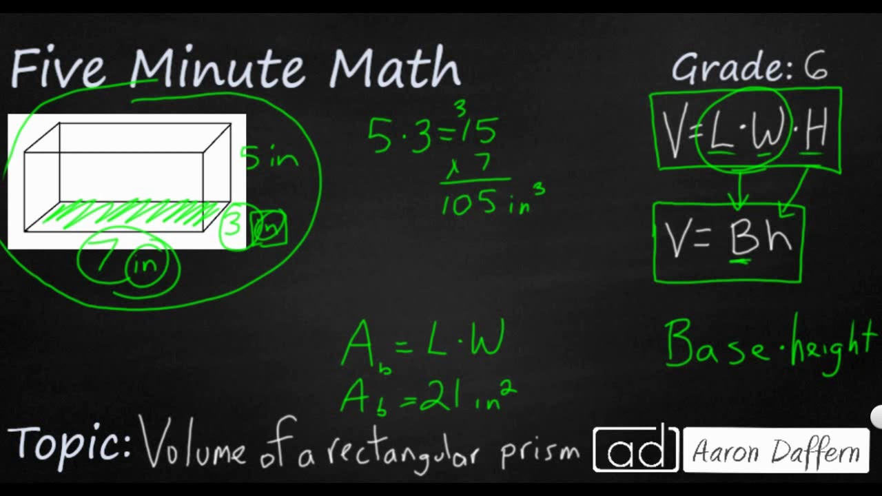 6th Grade Math - Area and Volume
