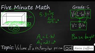 6th Grade Math Volume of a Rectangular Prism