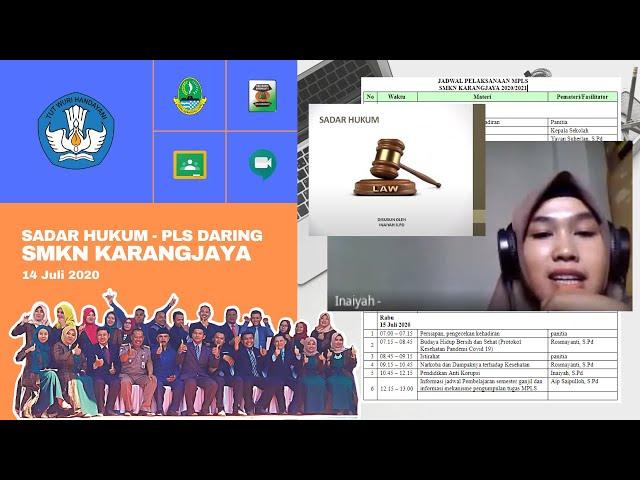 Webinar Sadar Hukum - Materi MPLS Daring SMKN Karangjaya