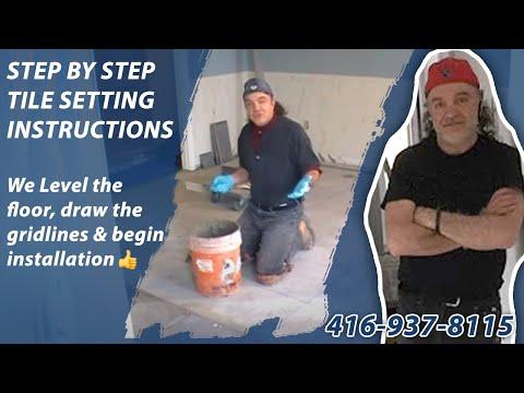 How To Tile A Floor Ceramic Porcelain Floor Tile Installation