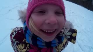 Урок #1 учимся кактаться на коньках по озеру