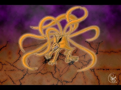 How to draw - Kyubi - Speed Drawing / Paint Naruto - YouTube