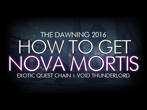 Destiny - How To Get Nova Mortis - New Exotic Machine Gun Quest / Void Thunderlord