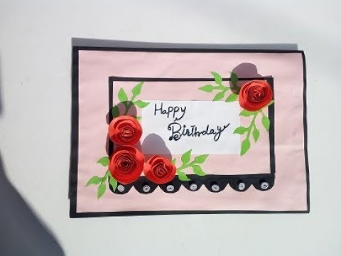 Pop Up Greeting Card Birthday Easy Paper Craft By Saba Iqbal