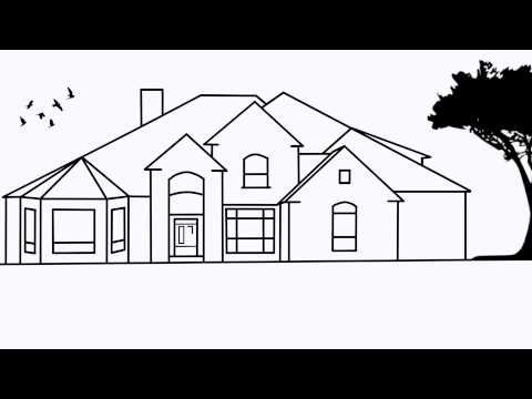 Simple Mansion Drawing