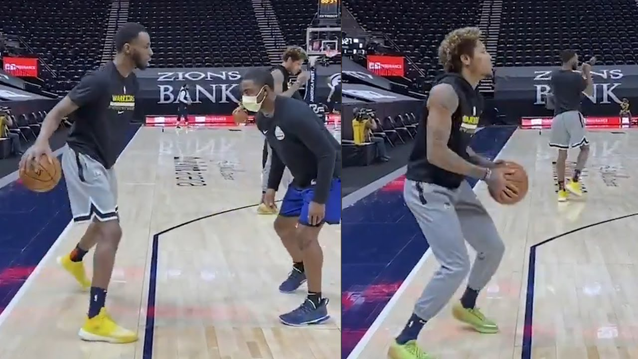 Warriors Andrew Wiggins & Kelly Oubre improve their three-point skills!