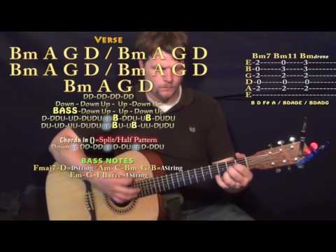 Unsteady (X Ambassadors) Guitar Lesson Chord Chart in Bm Minor - Bm G D A