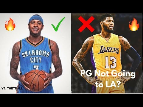 Will Paul George STILL Go to the Los Angeles Lakers After Carmelo Anthony Trade? // OKC Thunder