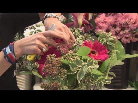 How To Make A Flower Arrangement how to make a flower arrangement - youtube