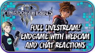 KINGDOM HEARTS 3! Endgame with Webcam Reactions + Twitch Chat