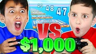 9 YR OLD vs 12 YR OLD FOR $1,000!!! (Fortnite Deathace Challenge)