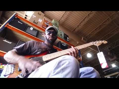 Sam Johnson bass player Tampa music store(4)