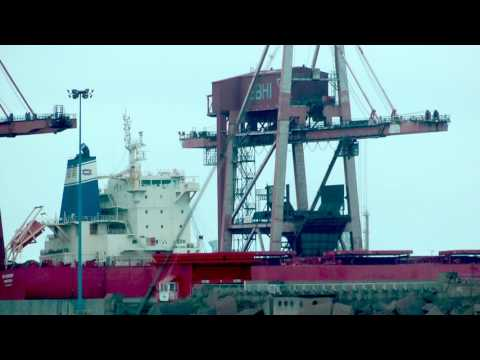 VIDEO SHIP NS ENERGY IMO 9609732 DSCAB LIBERIA GIJON HD