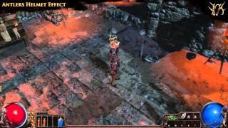 Path of Exile - Antlers Helmet Effect
