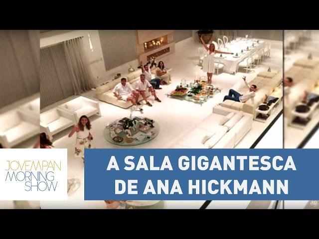 """Sala gigantesca de Ana Hickmann vira assunto na web: """"parou o Brasil""""   Morning Show"""