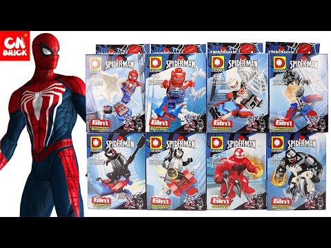 LEGO MARVEL SPIDER MAN PS4 6 IN 1 BOXES DLP9084 Unofficial LEGO