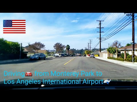 Dash Cam Tours 🚘 Driving from Monterey Park to Los Angeles International Airport
