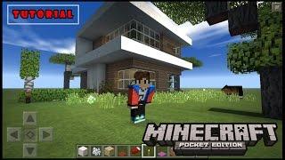 Cara Membuat Rumah Minimalis ( How To make Modern House ) - Minecraft Pocket Edition Tutorial