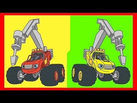 Вспыш и чудо-машинки - Раскраска для детей - Мультик с машинками - Учим цвета - Часть 2