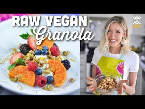 Easy Raw Vegan Granola Recipe | Gluten-free, Plant-based