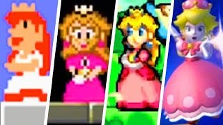 Evolution of Princess Peach in 2D Games (1985 - 2019)