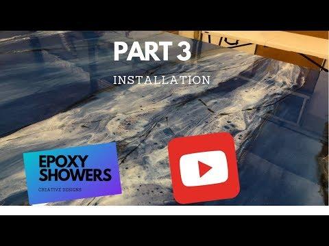 Epoxy shower walls installation- part 3