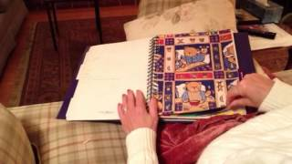 ASMR page turning - wrapping paper sample book, no talking