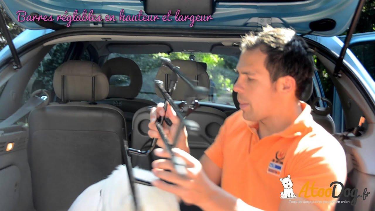 Grille s paration voiture pour chien atoodog youtube - Grille de separation voiture pour chien ...