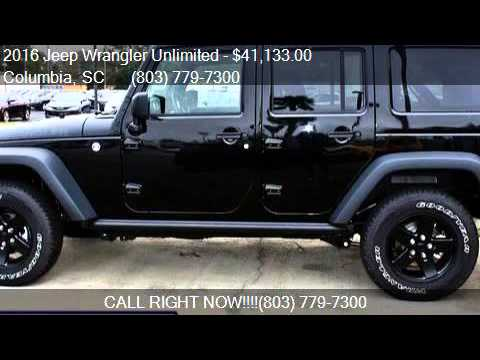 2016 Jeep Wrangler Unlimited 4wd 4dr Black Bear For In