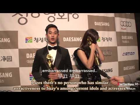 [Engsub] Blue Dragon Awards 2012 - Backstage Interview | Kim Soo Hyun & Suzy