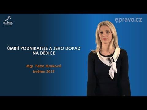"""Vzdělávací kurz """"Úmrtí podnikatele a jeho dopad na dědice"""" Mgr. Petry Markové"""
