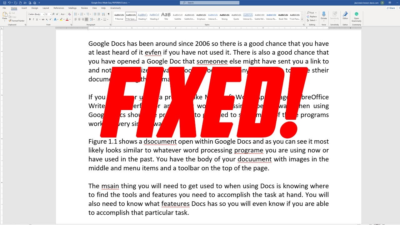 Microsoft Word Spelling and Grammar Checker Doesn't Show Mistakes (Fix) - YouTube