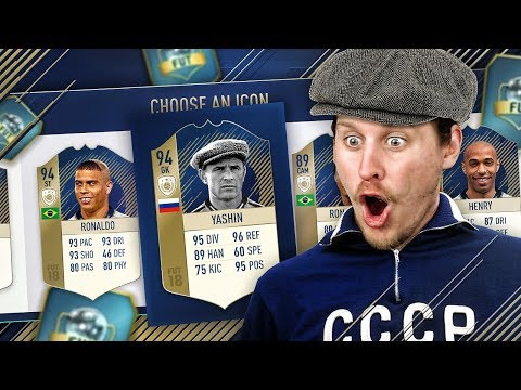 FINALLY AN ICON! MY FIRST ICON FUT DRAFT! FIFA 18 ULTIMATE TEAM