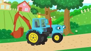 Песенки Для Малышей.Песня про Синий Трактор.Детский познавательный мультик.Развиваемся вместе!!!